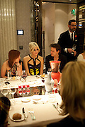 PIXIE LOTT; CHRISTOPHER KANE, Donatella Versace celebrates the launch of the CSM 20:20 Fund, at the Connaught Hotel, Mayfair, London, 11th November, 2010. -DO NOT ARCHIVE-© Copyright Photograph by Dafydd Jones. 248 Clapham Rd. London SW9 0PZ. Tel 0207 820 0771. www.dafjones.com.