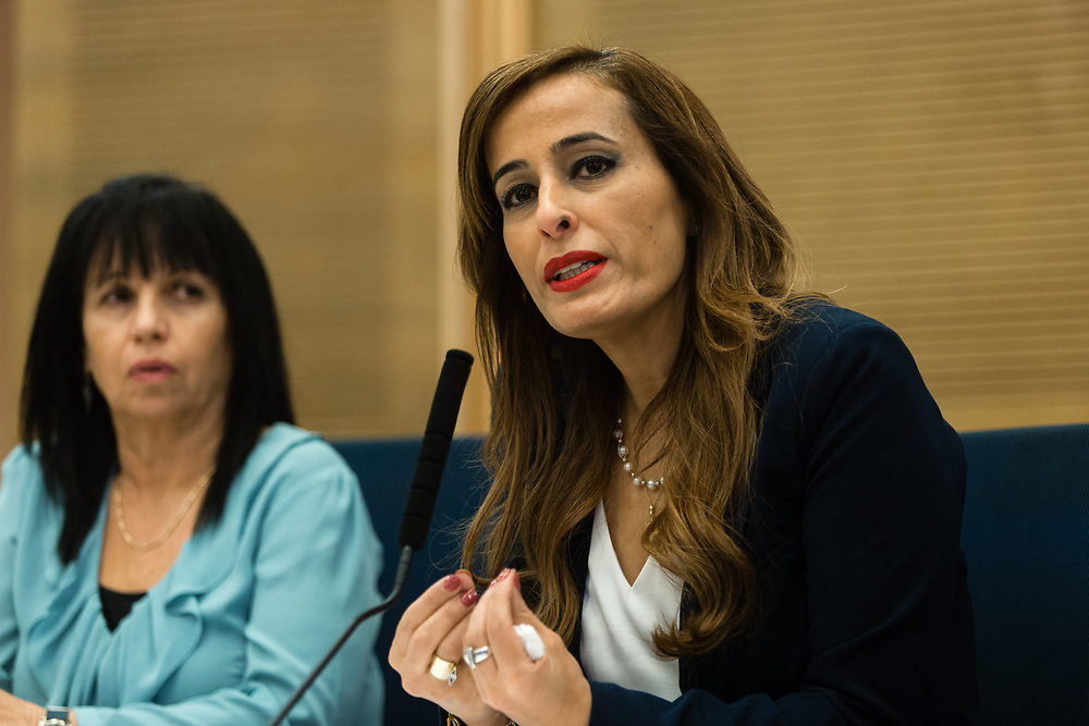 Israeli lawmaker, Knesset Member Nava Boker at the Knesset, Israel's parliament in Jerusalem, on January 12, 2016.