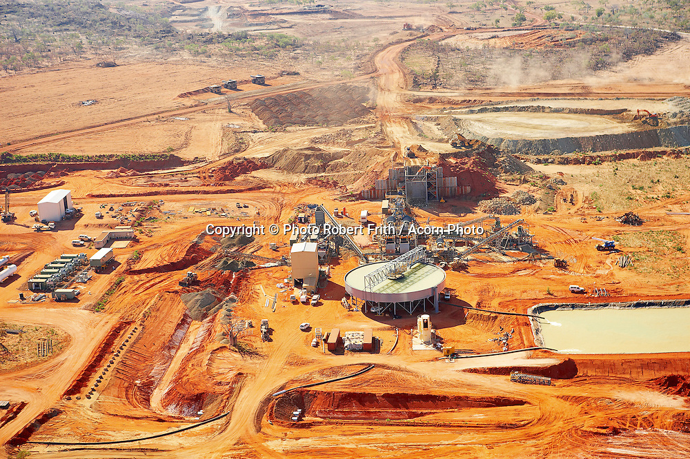 Mine process plant from the air <br /> Kimberley Diamond Company<br /> Ellendale Mine