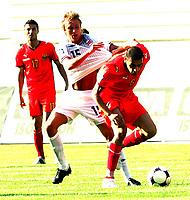 Fotball , 6. juni 2009 VM-kvalifisering , Norge - Makedonia<br /> Per Ciljan Skjelbred(L) and  Boban Grncharov  (r) FYR Macedonia<br /> WC-qual.<br /> Norway - Macedonia