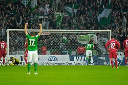 05.11.2011, Weser Stadion, Bremen, GER, 1.FBL, Werder Bremen vs 1.FC Köln, im Bild Claudio Pizarro (Bremen #24) feiert nach dem 2:2 // during the match GER, 1.FBL, Werder Bremen vs 1.FC Koeln on 2011/11/05, 12. matchday, Weser Stadion, Bremen, Germany. EXPA Pictures © 2011, PhotoCredit: EXPA/ nph/  Gumz       ****** out of GER / CRO  / BEL ******