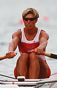 Atlanta, USA,  CAN W1X LAUMANN, Silken Suzette, moves away from the start at the 1996, Olympic Rowing Regatta at Lake Lanier, Gainsville Georgia,  [Photo Peter Spurrier/Intersport Images]