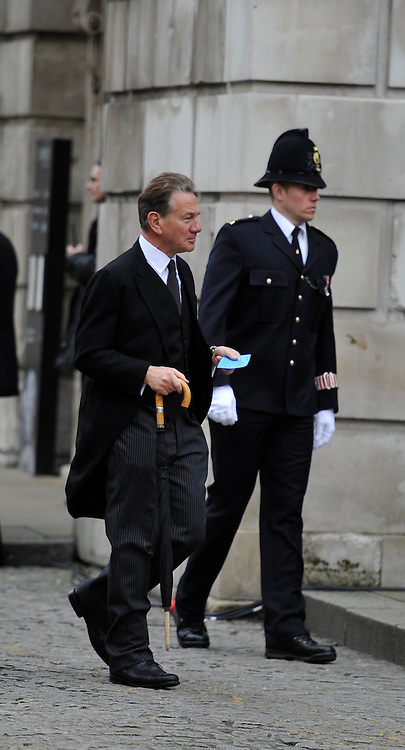 © Licensed to London News Pictures. 17 April 2013. St Paul's Cathedral London. Michael Portillo. Funeral of Baroness Thatcher, former Conservative Prime Minister. Photo credit : MarkHemsworth/LNP