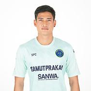 THAILAND - APRIL 09: Anurak Chompupurk #20 of Samut Prakan City FC on April 09, 2019.<br /> .<br /> .<br /> .<br /> (Photo by: Naratip Golf Srisupab/SEALs Sports Images/MB Media Solutions)