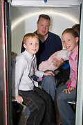 St. Louis Missouri MO USA, Inside the Gateway Arch - Family in the elevators