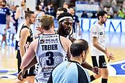 Jason Burnell - Kaspar Treier<br /> Banco di Sardegna Dinamo Sassari - Dolomiti Energia Trentino Trento<br /> LegaBasket Serie A LBA UnipolSai 2020/2021<br /> Sassari, 21/04/2021 - Ore 20:30<br /> Foto C.Atzori / Ciamillo-Castoria