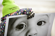A young marcher holds an Eyes of Life sign before the March for Life 2017 on Friday, Jan. 27, 2017, in Washington, D.C. LCMS Communications/Erik M. Lunsford