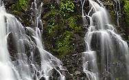 Closeup of Steelhead Falls in the Hayward Lake Recreation Area in Mission, British Columbia, Canada