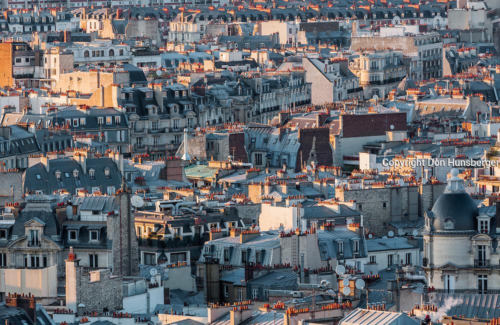 Roof tops, Paris, Paris street scene, arc de triomphe
