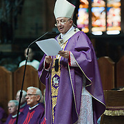 MILAN, ITALY - JUNE 14:  His Eminence Cardinal Dionigi Tettamanzi Archibishop of Milan officiates the funeral of Monsignor Luigi Padovese at the Duomo on June 14, 2010 in Milan, Italy. Monsignor Luigi Padovese Bishop in Anatolia was murdered by his own driver on June 3rd in Iskenderun, Turkey ***Agreed Fee's Apply To All Image Use***<br /> Marco Secchi /Xianpix<br />  tel +44 (0) 207 1939846<br />  e-mail ms@msecchi.com <br /> www.marcosecchi.com