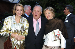 Left to right, FREDERICK & SANDY FORSYTH and CARLA BAMBERGERat the annual Cartier Flower Show Diner held at The Physics Garden, Chelsea, London on 23rd May 2005.<br /><br />NON EXCLUSIVE - WORLD RIGHTS