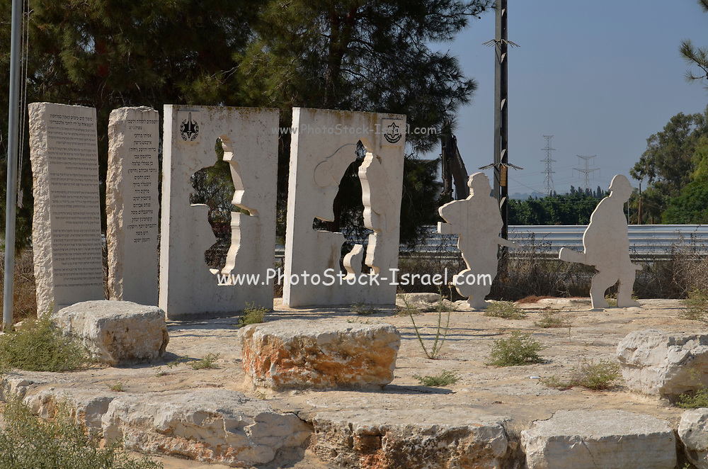 Qaqun was a Palestinian Arab village located 6 kilometers northwest of the city of Tulkarm. During the 1948 War of Independence it was a location of conflict between Iraqi and Israeli forces. War Memorial of Alexandroni Brigade in Qaqun with Bible citation from Zephaniah 3:19