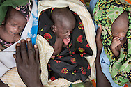 Week old triplets, Aluong, from left, Nyandit, and Akuong were born under a tree in the forests of Yolakot, South Sudan in Lake State where their mother sought refuge after fleeing violence in neighboring Jonglei, State. Sara A. Fajardo/Catholic Relief Services