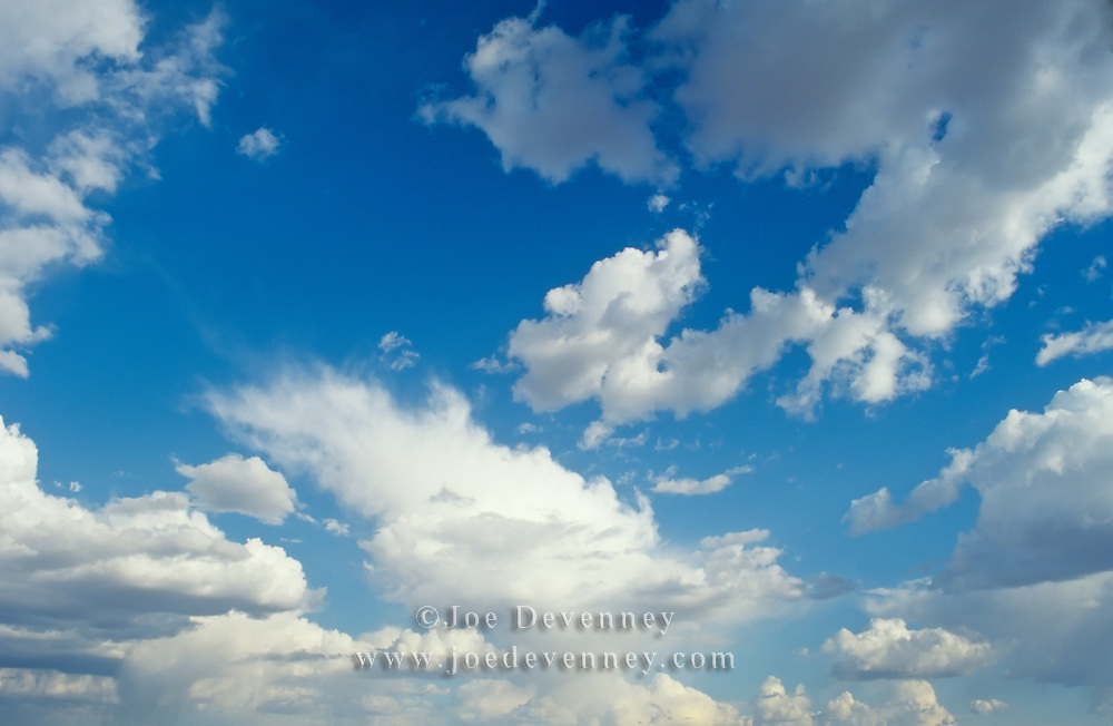 A mixture of fair weather clouds in a blue skay