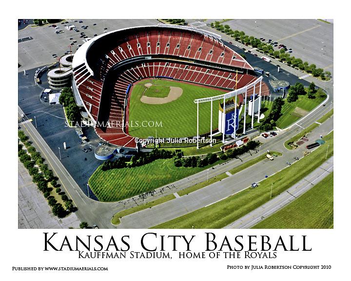 Aerial view of Kansas City Royals Kauffman Stadium