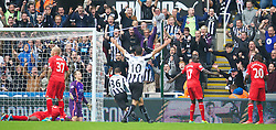 19.10.2013, St. James Park, New Castle, ENG, Premier League, ENG, Premier League, Newcastle United vs FC Liverpool, 8. Runde, im Bild Liverpool's goalkeeper Simon Mignolet looks dejected as Newcastle United's Paul Dummett celebrates scoring the second goal // during the English Premier League 8th round match between Newcastle United and Liverpool FC St. James Park in New Castle, Great Britain on 2013/10/19. EXPA Pictures © 2013, PhotoCredit: EXPA/ Propagandaphoto/ David Rawcliffe<br /> <br /> *****ATTENTION - OUT of ENG, GBR*****