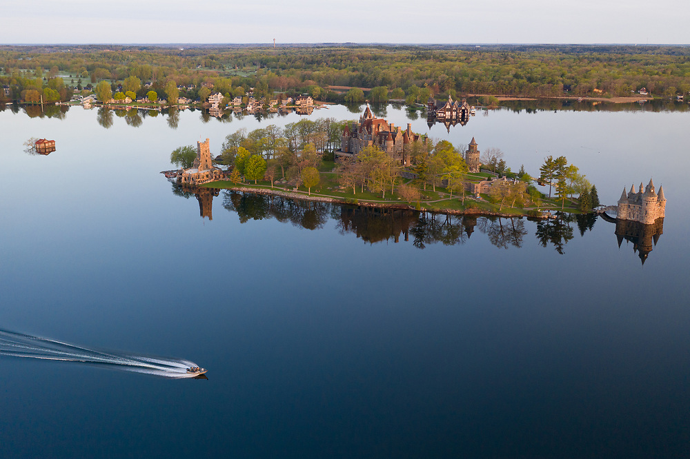 https://Duncan.co/aerial-photo-of-boldt-castle-with-boat-in-the-foreground