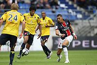 FOOTBALL - FRENCH CHAMPIONSHIP 2010/2011 - L1 - FC SOCHAUX v PARIS SAINT GERMAIN - 29/08/2010 - PHOTO ERIC BRETAGNON / DPPI - KEVIN HANIN (SOCH) / GUILLAUME HOARAU (PSG)