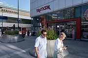 TK Maxx exterior on 14th July 2021 in Birmingham, United Kingdom. TK Maxx is a low price retailer which focusses on clothing and homeware, amongst other things. They have consistently reduced pricing and sell designer goods at a fraction of the retail price.