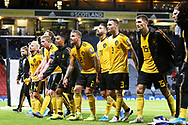 Belgium players salute their fans at the end of the game in  during the UEFA European 2020 Qualifier match between Scotland and Belgium at Hampden Park, Glasgow, United Kingdom on 9 September 2019.