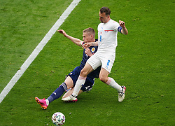 Scotland's Scott McTominay and Czech Republic's Vladimir Darida (right) battle for the ball during the UEFA Euro 2020 Group D match at Hampden Park, Glasgow. Picture date: Monday June 14, 2021.