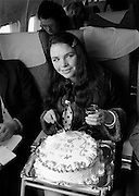 Dana (Rosemary Brown) returning home in triumph from her win in the Eurovision Song Contest. Her song, 'All Kinds of Everything', composed by Derry Lindsay and Jackie Smith, reached No 1 in the Irish and British charts. It was Irelands First victory in the contest. <br /> 23/03/1970