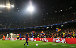 Lionel Messi of Barcelona adjusts his captains armband before taking a corner - Mandatory by-line: Matt McNulty/JMP - 14/03/2018 - FOOTBALL - Camp Nou - Barcelona, Catalonia - Barcelona v Chelsea - UEFA Champions League - Round of 16 Second Leg