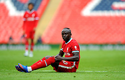 Sadio Mane of Liverpool is Brough to the ground by Ainsley Maitland-Niles of Arsenal- Mandatory by-line: Nizaam Jones/JMP - 29/08/2020 - FOOTBALL - Wembley Stadium - London, England - Arsenal v Liverpool - FA Community Shield