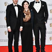 Yoku Island - Linus Larsson and Jens Anderson  Arrivers at the British Academy (BAFTA) Games Awards at Queen Elizabeth Hall, Southbank Centre  on 4 March 2019, London, UK.