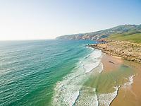 Praia da Guincho beach Portugal, popular with kitesurfers