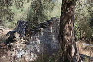 The ruins of an old olive press on the island of Paxos, The Ionian Islands, The Greek Islands, Greece, Europe