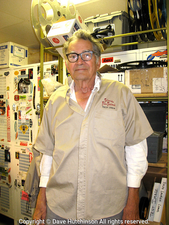 Ross Krantz, Telluride Film Festival technician and Carl Brinkert Society member.