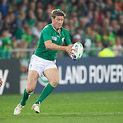 Ronan O' Gara, Ireland, in action during the Ireland V Italy Pool C match during the IRB Rugby World Cup tournament. Otago Stadium, Dunedin, New Zealand, 2nd October 2011. Photo Tim Clayton...
