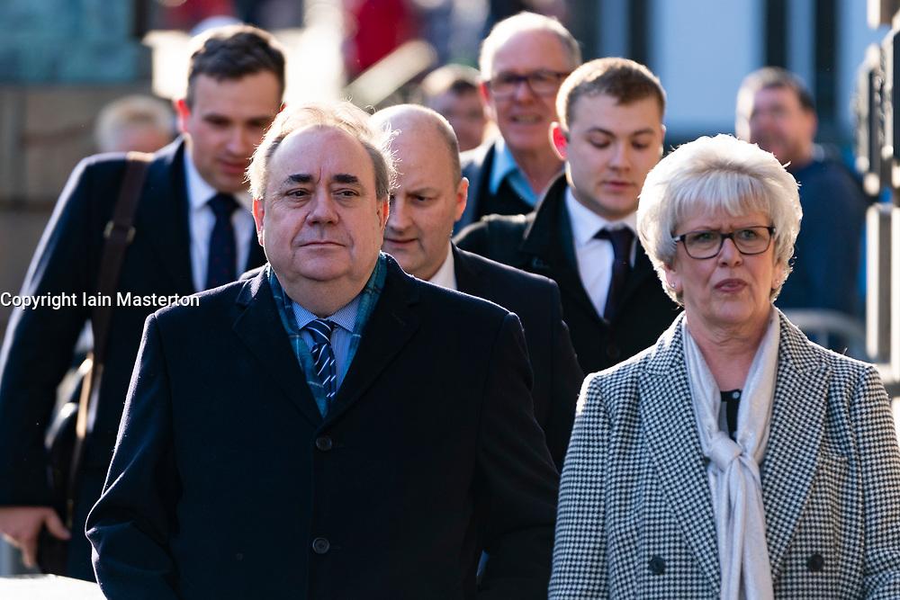 Edinburgh, Scotland, UK. 19 March, 2020.  Alex Salmond leaves the High Court in Edinburgh on the ninth day of his trial. Iain Masterton/Alamy Live News