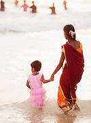 In the late afternoon at Kovalam Beach, near Trivandrum (Thiruvananthapuram), Kerala, India