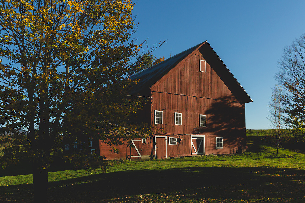The 1850 Spear Barn in Stowe, VT.