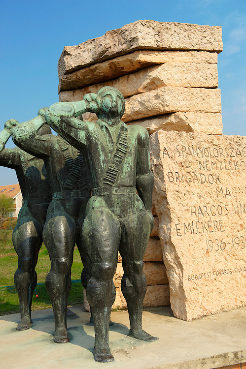 Memorial for the soldiers of the Hungarian Spanish Civil War Brigade -  Memento Sculpture Park ( Szobaopark ) Budapest, Hungary .<br /> <br /> Visit our HUNGARY HISTORIC PLACES PHOTO COLLECTIONS for more photos to download or buy as wall art prints https://funkystock.photoshelter.com/gallery-collection/Pictures-Images-of-Hungary-Photos-of-Hungarian-Historic-Landmark-Sites/C0000Te8AnPgxjRg