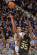 Kansas State forward Marlies Gipson (51) scores over Baylor's Abiola Wabara (35), during the second half at Bramlage Coliseum in Manhattan, Kansas, February 25, 2006. The 10 ranked Lady Bears defeated K-State 79-70.