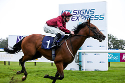 Dark Illusion ridden by Charles Bishop trained by Eve Johnson Houghton wins the British Stallion Studs EBF Median Auction Maiden Stakes - Mandatory by-line: Robbie Stephenson/JMP - 19/08/2020 - HORSE RACING - Bath Racecourse - Bath, England - Bath Races