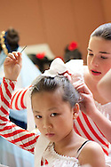 Patricia Hunter teaches children's ballet at the Redwood Heights Recreation Center in Oakland, California. Every December, her program and the Piedmont program perform The Nutcracker. Photographed for The MacArthur Metro.