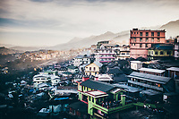 A view of the sprawling mountainside village of Kohima, the capital of Nagaland state in northeastern India.