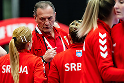 Coach Zivojin Ksic of Serbia during the Women's EHF Euro 2020 match between Serbia and Hungary at Sydbank Arena on december 06, 2020 in Kolding, Denmark (Photo by RHF Agency/Ronald Hoogendoorn)