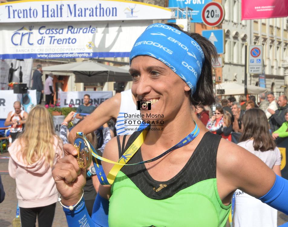 9ª Semi Maratona di Trento Half Marathon - 6 ottobre 2019 –  Corsa su strada internazionale -  06.10.2019, Trento, Trentino, Italia. Arrivo, <br /> © Daniele Mosna WWW.DANIELEMOSNA.IT