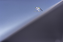28.02.2019, Seefeld, AUT, FIS Weltmeisterschaften Ski Nordisch, Seefeld 2019, Skisprung, Herren, Qualifikation, im Bild Michael Hayboeck (AUT) // Michael Hayboeck of Austria during his Qualification Jump of men's Skijumping of FIS Nordic Ski World Championships 2019. Seefeld, Austria on 2019/02/28. EXPA Pictures © 2019, PhotoCredit: EXPA/ JFK