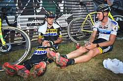 September 24, 2017 - Waterloo, UNITED STATES - Belgian Quinten Hermans and Belgian Toon Aerts pictured after the 'Trek CX Cup' cyclocross cycling race, the second stage of the world cup cyclocross in Waterloo (WI), USA, Sunday 24 September 2017. BELGA PHOTO DAVID STOCKMAN (Credit Image: © David Stockman/Belga via ZUMA Press)