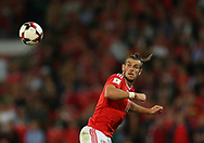 Gareth Bale of Wales in action. Wales v Austria , FIFA World Cup qualifier , European group D match at the Cardiff city Stadium in Cardiff , South Wales on Saturday 2nd September 2017. pic by Andrew Orchard, Andrew Orchard sports photography