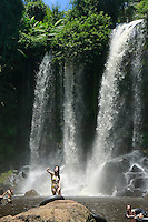 waterfall in Phnom Kulen mountains, Cambodia