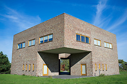 Library and Archive building at Raketenstation a former rocket station at Museum Insel at Hombroich at Neuss in Germany