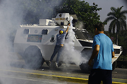 April 30, 2019 - Valencia, Carabobo, Venezuela - The Venezuelans start a new protest against Maduro. The interim president Juan Guaido call to take the street in all Venezuela. These photos are from the Valencia city, Carabobo state. (Credit Image: © Juan Carlos Hernandez/ZUMA Wire)
