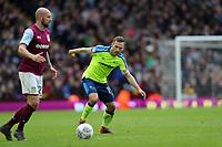 Aston Villa v Derby County - Sky Bet Championship<br /> BIRMINGHAM, ENGLAND - APRIL 28 :  Andrease Weimann of Derby County, closes down Aston Villa's Alan Hutton